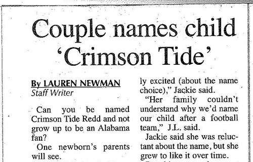 parenting Alabama names