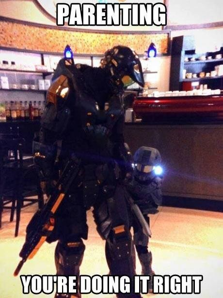 master chief parenting halo costume cosplay