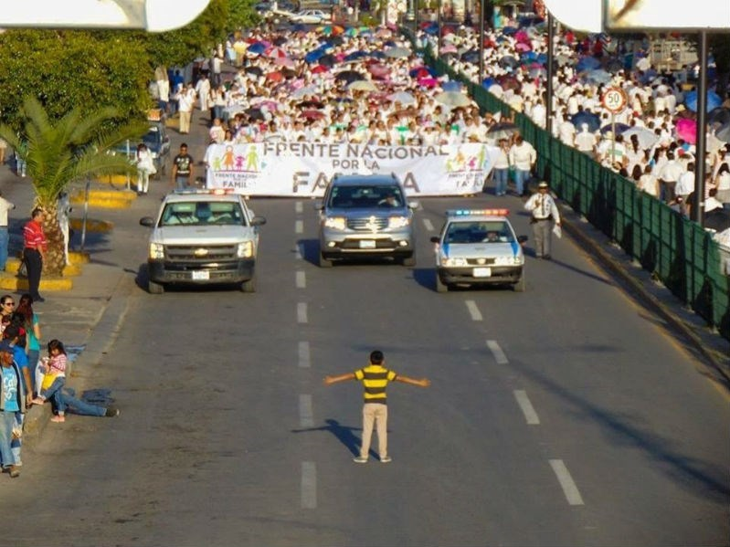 trending twitter video mexico anti gay marrriage march 12 year old boy protestor pride hero
