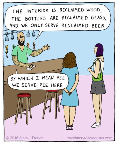 beer web comics pee It's Very Environmentally Friendly