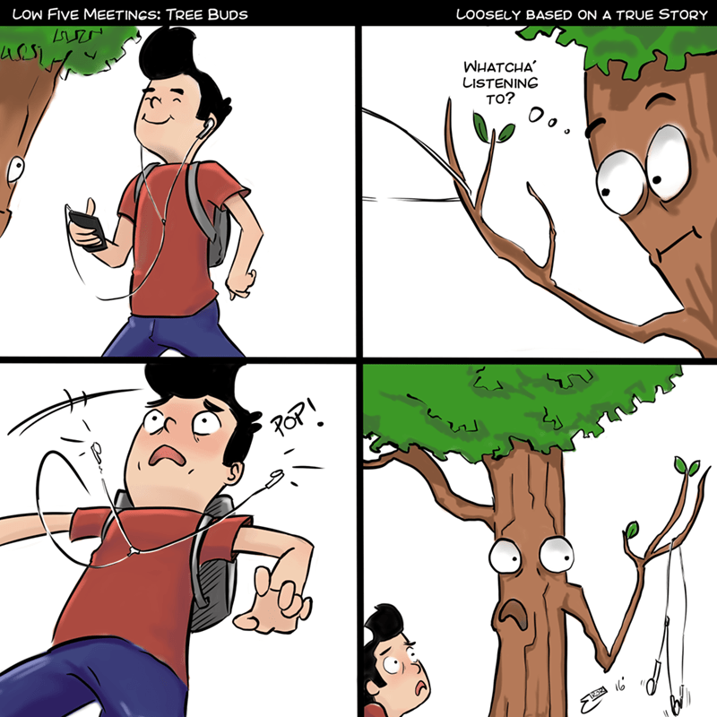 web comics tree headphones Should Have Gotten Some Air Pods?