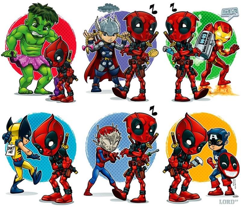 marvel deadpool iron man superheroes wolverine avengers - 8976114432