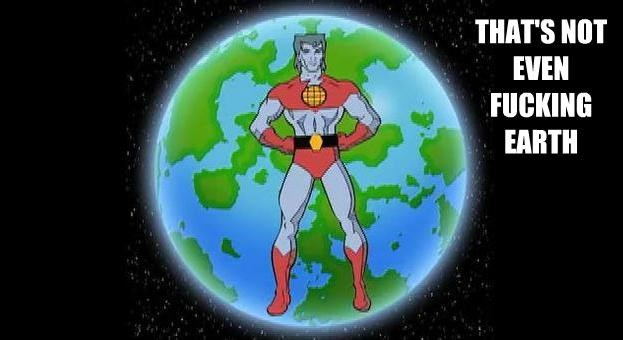 captain planet cartoons earth - 8976158208