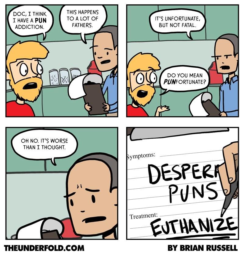 web comics dad jokes puns Dad Jokes Don't Just Hurt You, They Hurt Those Around You