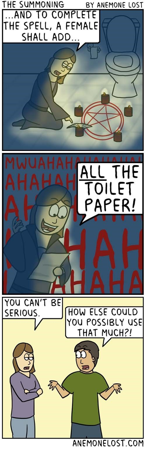 web comics toilet paper women Where All the Toilet Paper Goes