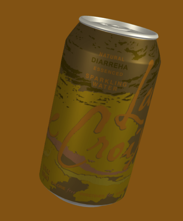Beverage can - NATURAL DIARREHA ESSENCED SPARKLING WATE R CLORIE