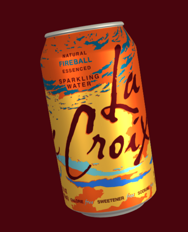Beverage can - NATURAL FIREBALL ESSENCED SPARKLING WATER Croy CALORIE free SWEETENER frs soou