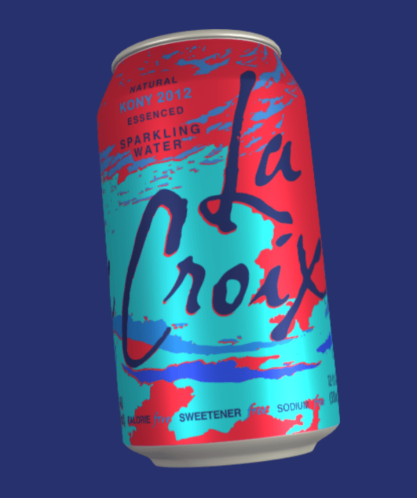 Beverage can - NATURAL KONY 2012 ESSENCED SPARKLING WATER ALORIE SWEETENER SODIUM
