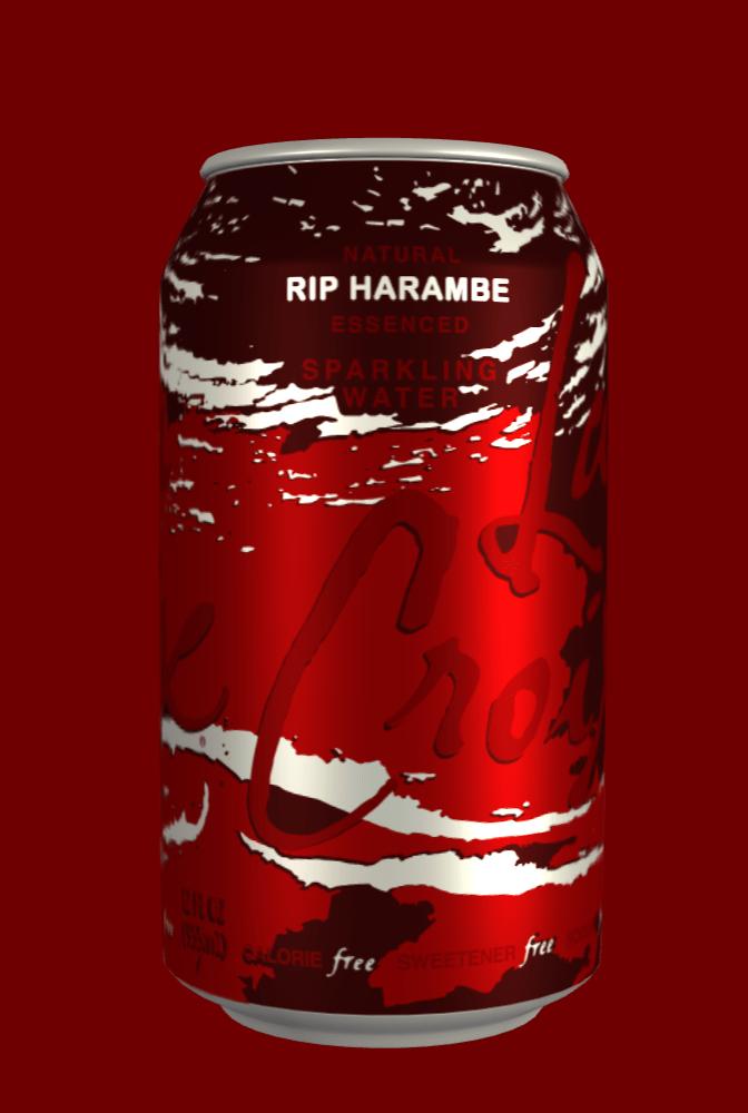 Beverage can - RIP HARAMBE ARKLING CALORIE free sweETENERfret