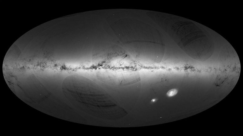 trending new milky way galaxy full picture first time esa gaia satellite