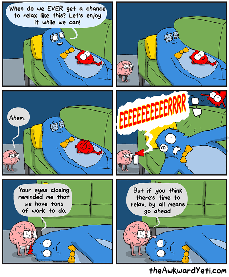 web comics relaxing brain It's So Nice to Just Relax