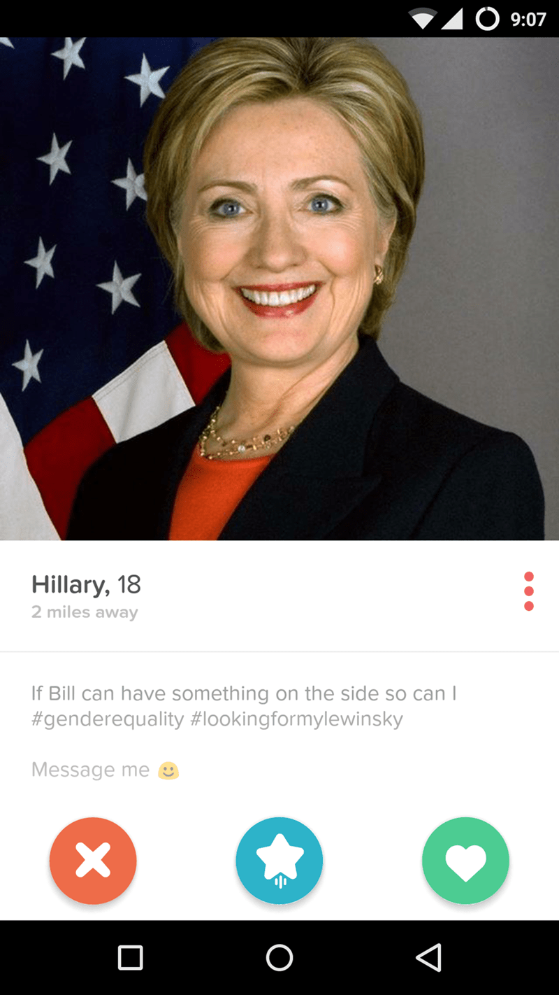 tinder Hillary Clinton dating - 8976258048