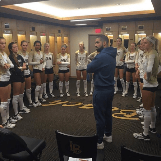memes drake volleyball The Internet Can't Stop Captioning This Photo of Drake With a Girl's Volleyball Team