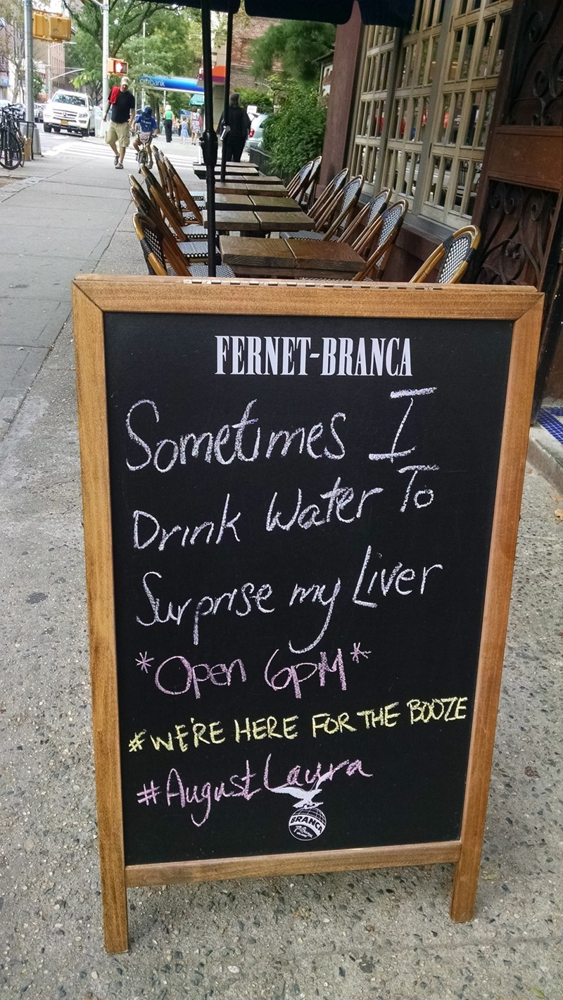 bar sign alcohol water clever win