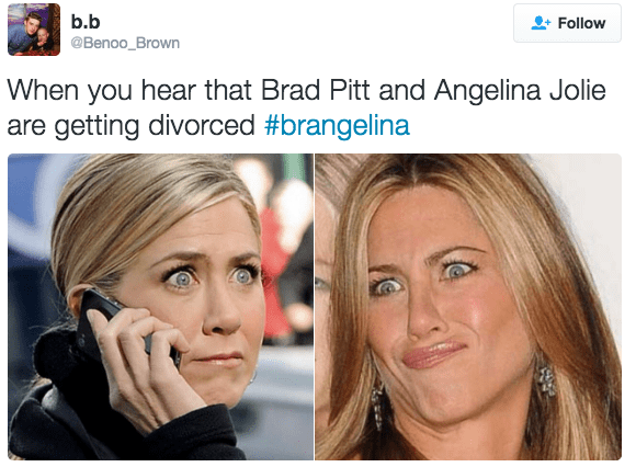 brad pitt,Angelina Jolie,twitter,list,reactions,divorce,celeb