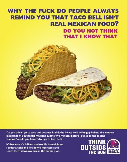 image parody taco bell Yo Quiero Better Decision Making Skills