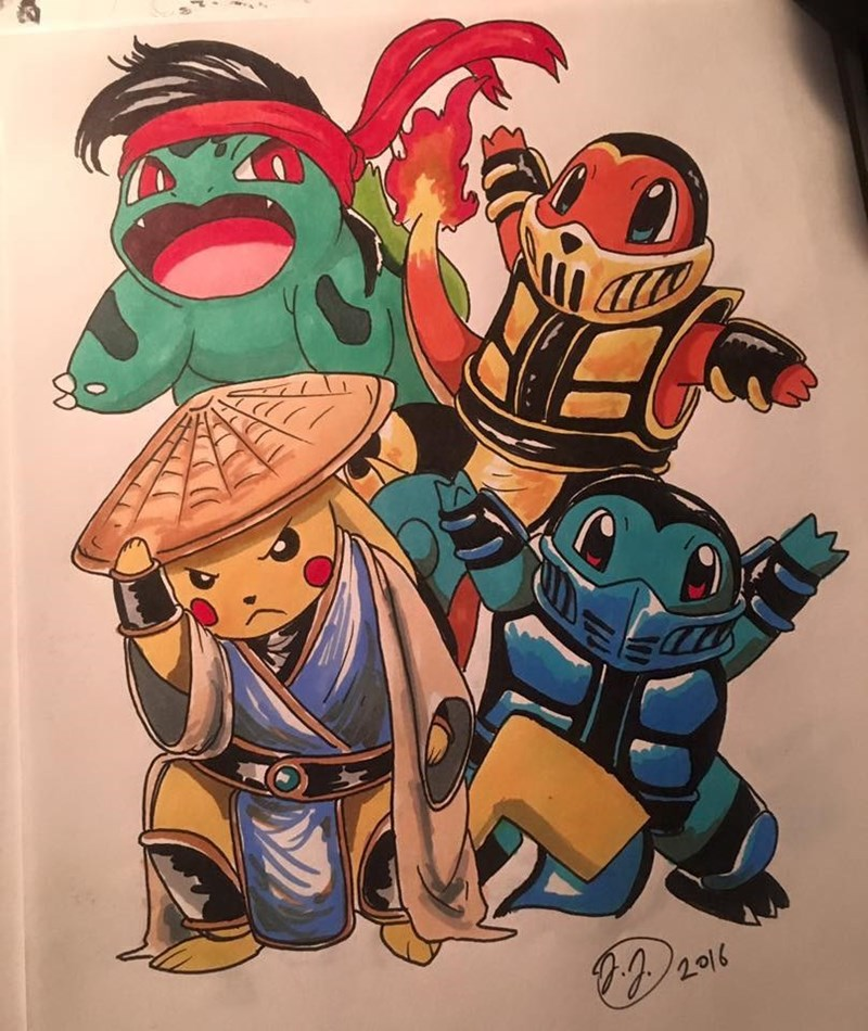 fan-art-combines-pokemon-and-mortal-kombat-video-game