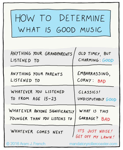 web comics music generations Foolproof Way to Tell If Someone Else's Taste is Bad
