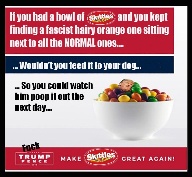 donald trump,skittles,politics