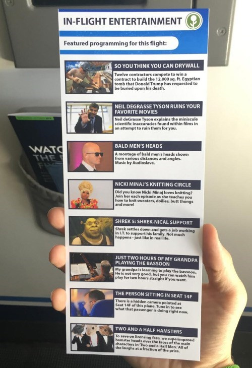 prank airplane movies These Prank In-Flight Movies are Probably Better Than Some of the Actual Choices