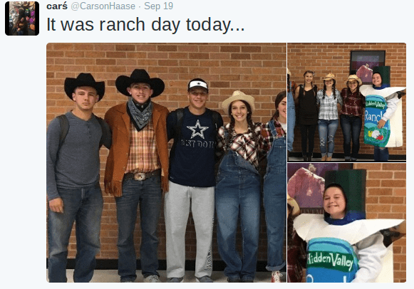 Kinda Sad That Only One Person Dressed Up