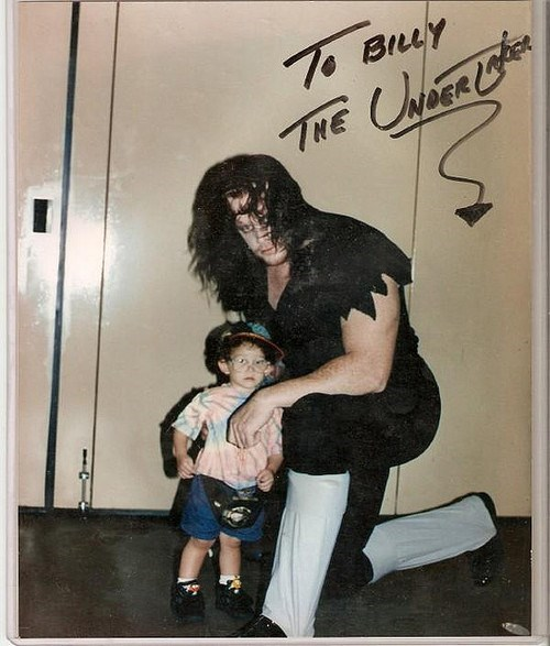 funny parenting image undertaker autograph