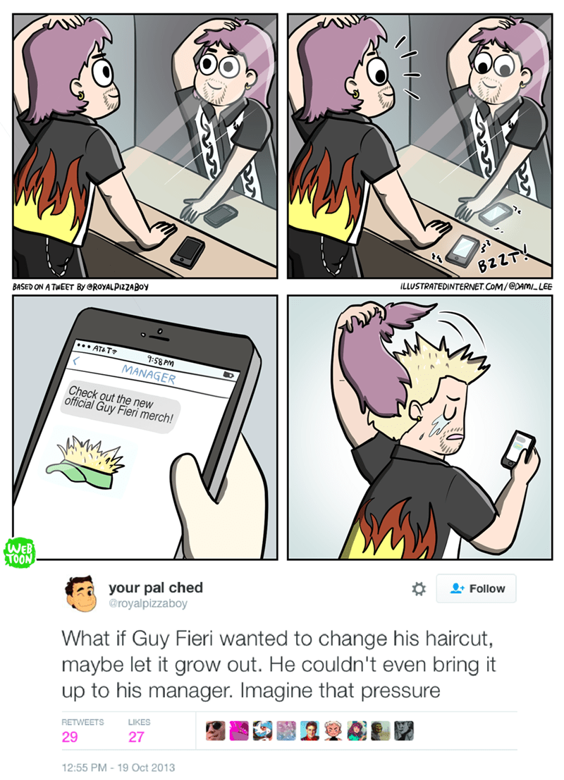 web comics guy fieri hair Flavortown Has Only One Approved Hairstyle