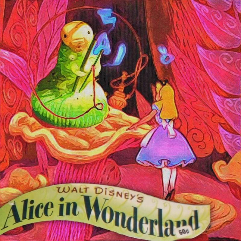 Illustration - WALT DISNEY'S Alice in Wonderlad 60¢ rys