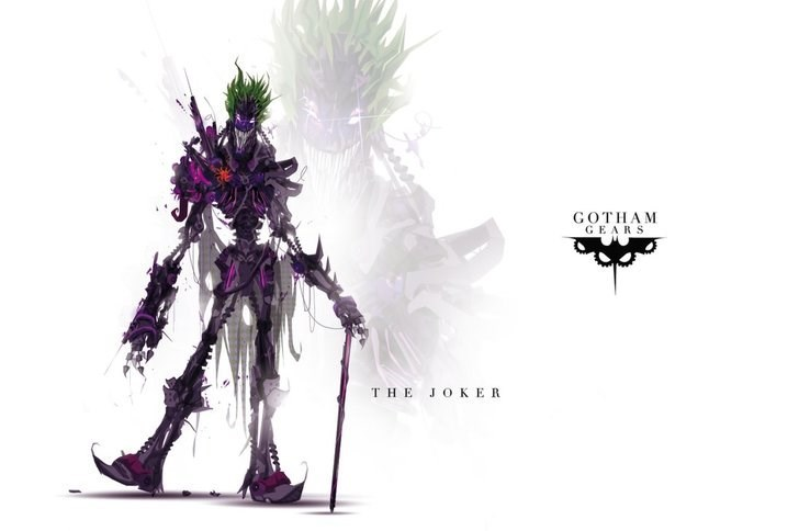 Graphic design - GОTHAM GEARS THE JОKER