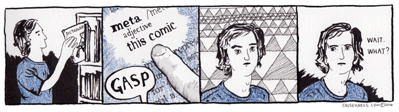 "web comics meta Try Looking Under ""4th Wall"""