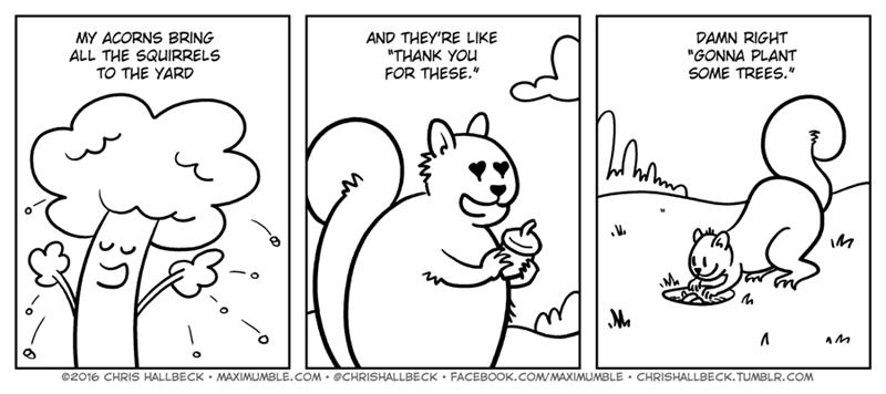 web comics squirrel rhyming Why Squirrels Bury Acorns