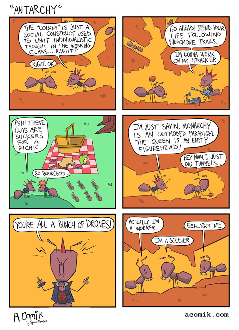 animals web comics anarchy Ants Aren't Very Susceptible to Revolution