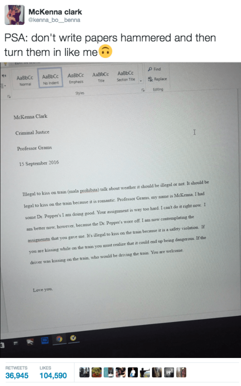 College Papers are Tough, Writing Them Drunk is Even Tougher