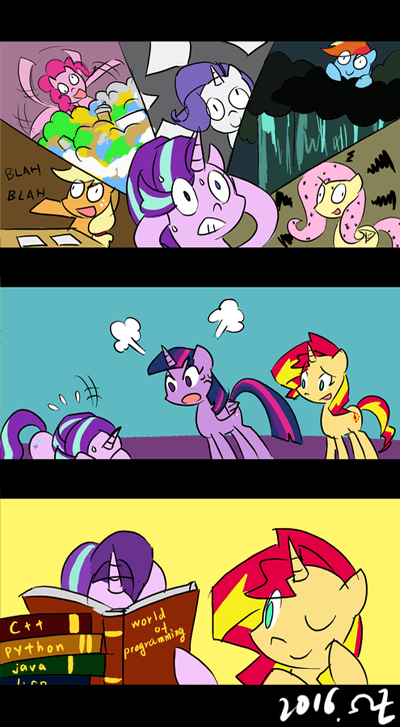 applejack comic fluttershy pinkie pie twilight sparkle rarity rainbow dash programming sunset shimmer starlight glimmer every little thing she does - 8978772736