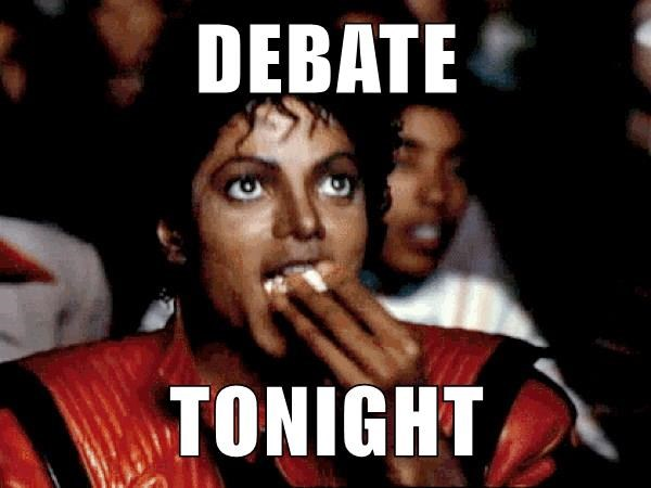 DEBATE  TONIGHT