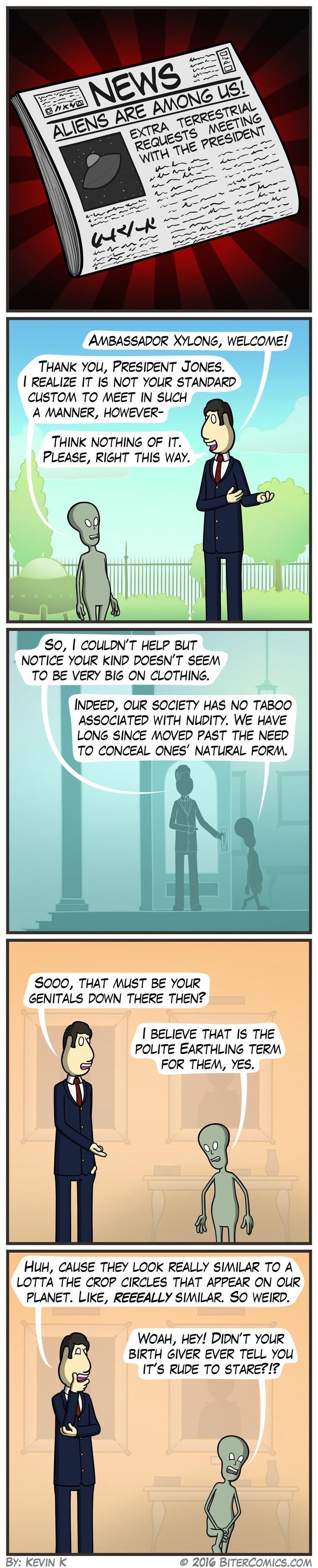 web comics aliens crop circles