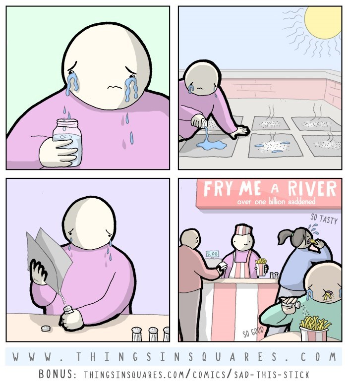web comics salty tears Where Did You Think the Salt Came From?