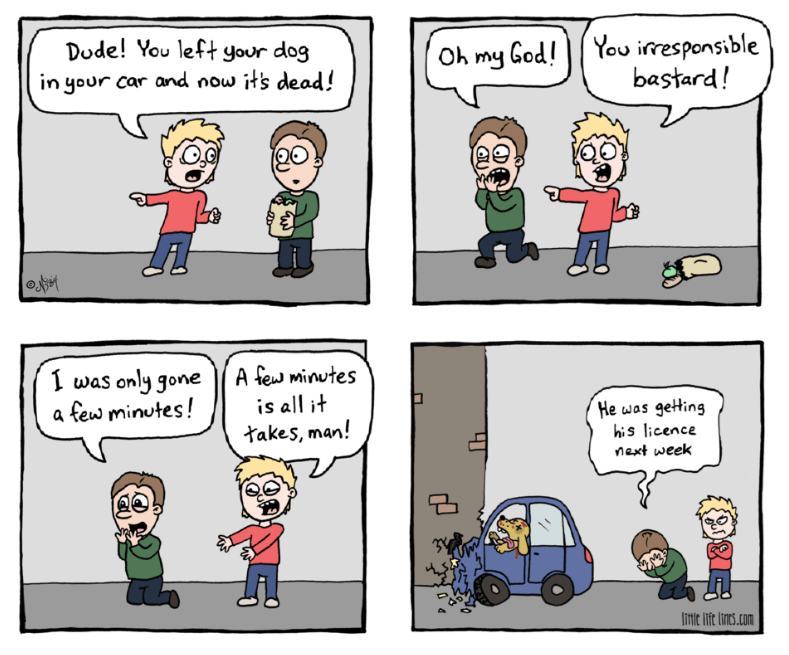 web comics dogs cars Should Have Let Him Take Drivers Ed
