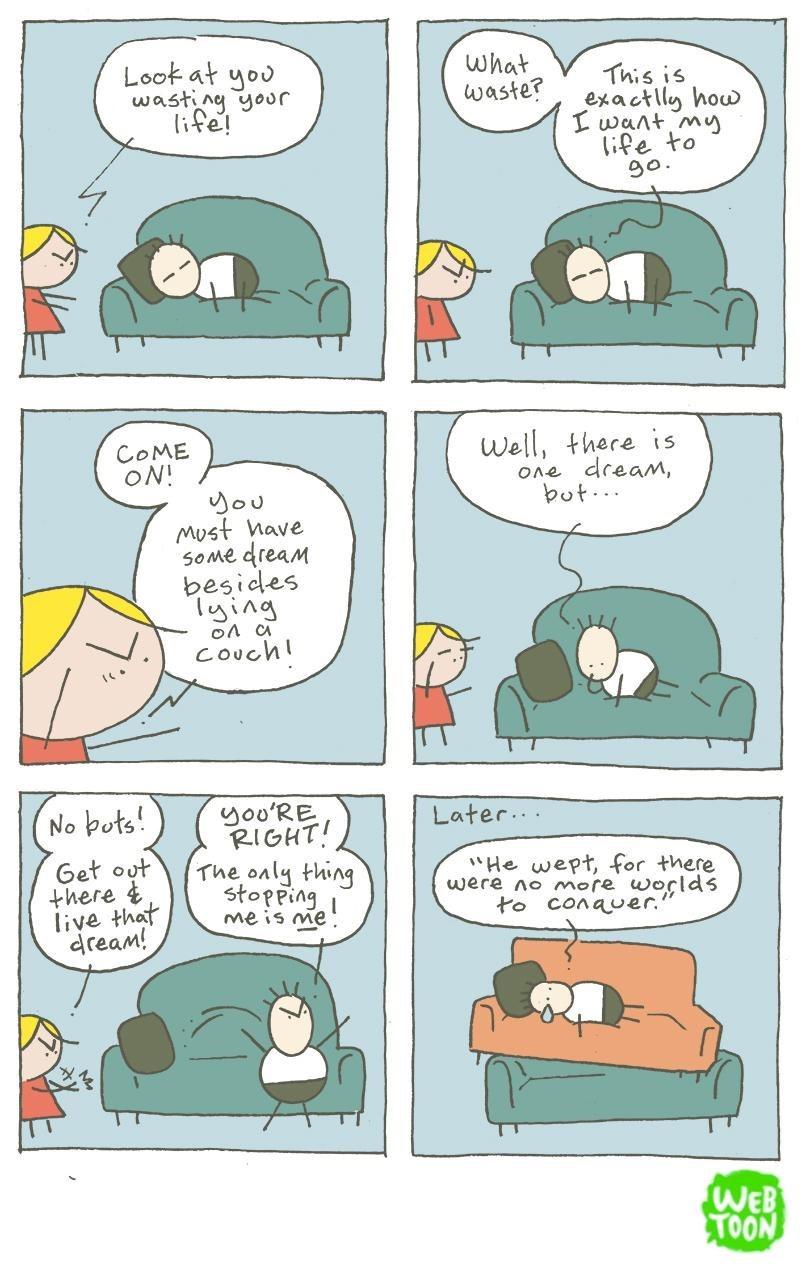 web comics couches dreams Don't Let Your Dreams Be Dreams