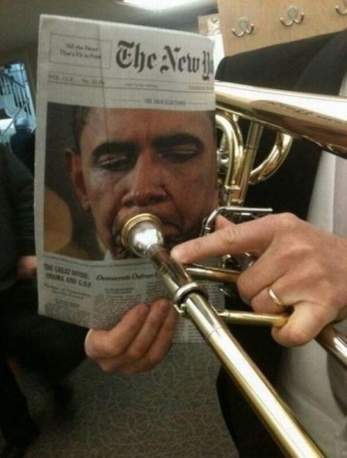 barack obama trumpet image Wah Wah