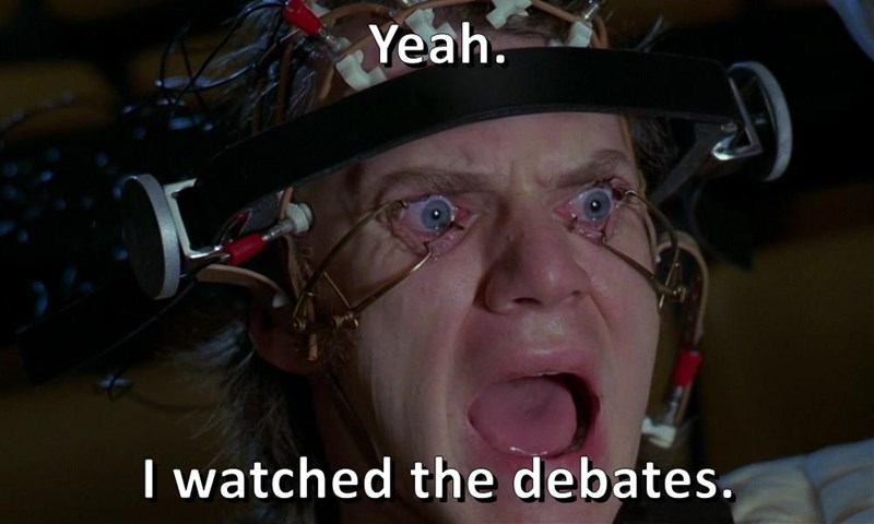 Yeah.  I watched the debates.