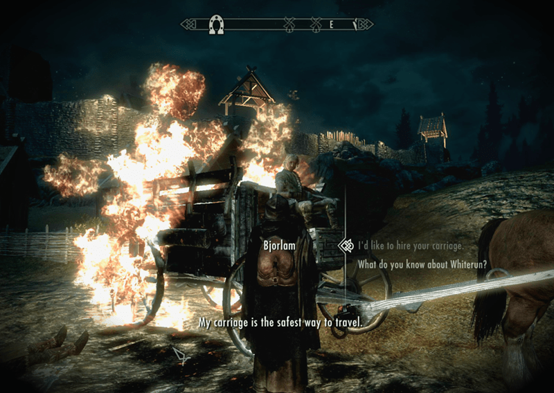 skyrim-video-game-logic-my-carriage-is-the-safest-way-to-travel