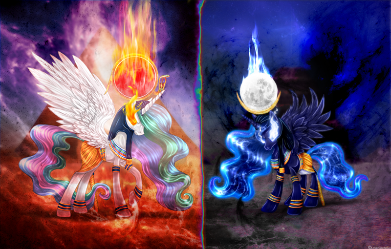khonsu,princess luna,ponify,princess celestia,ra