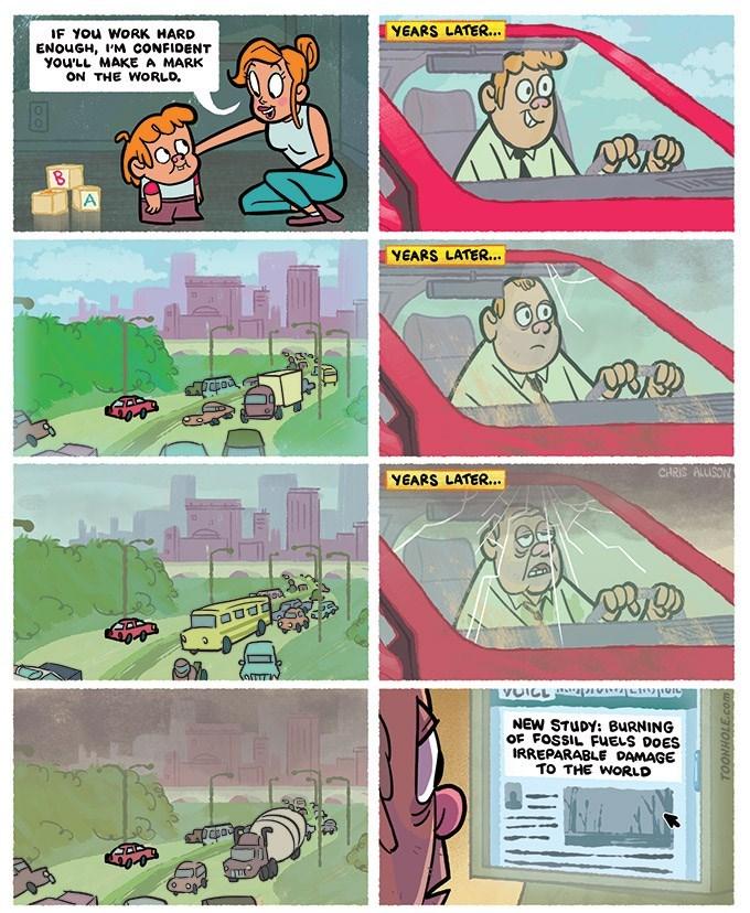 web comics sad pollution You Did It!