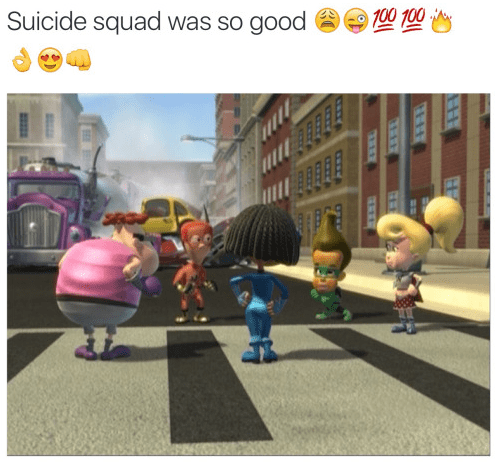 image suicide squad jimmy neutron They Did a Lot of Post Production Work Though
