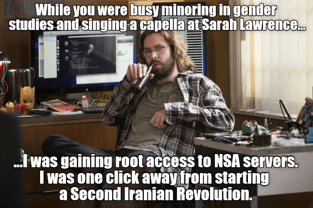 What Gilfoyle from Silicon Valley does