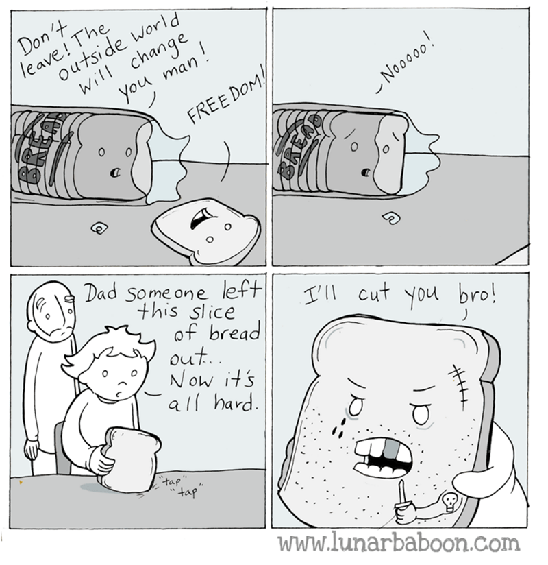 web comics bread puns It's a Hard Life but at Least You're Free
