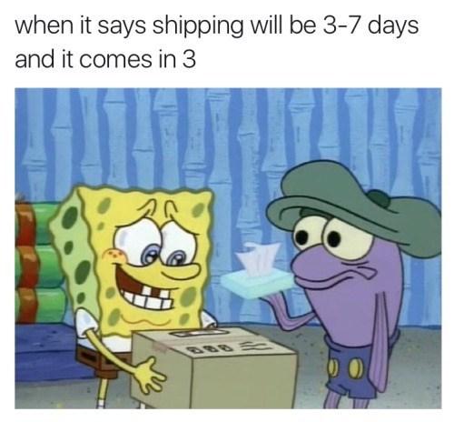 image spongebob squarepants delivery It's. So. Beautiful!