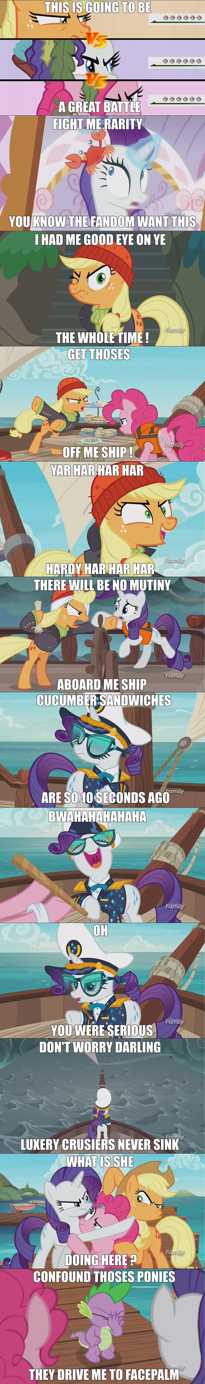 spike applejack giant enemy crab pinkie pie pony point of view Memes rarity - 8980373248