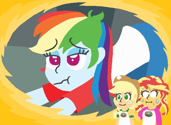 applejack equestria girls legend of everfree iwtcird sunset shimmer rainbow dash - 8980403712
